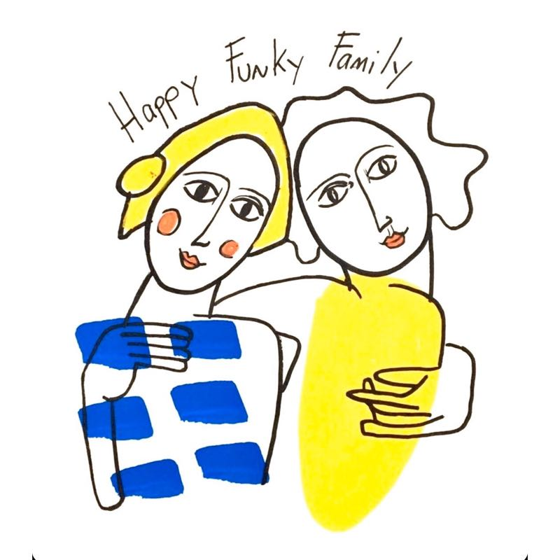 logo happy funky family portrait