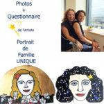 Portrait de famille peint sur mesure personnalisé
