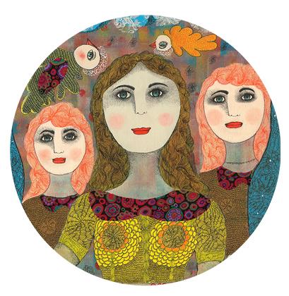 Portrait de famille personnalisé et sur mesure peint sur canvas