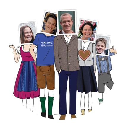 Portrait de famille personnalisé et sur mesure collage digital