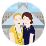 Portrait de famille personnalisé sur mesure avec illustration digitale