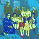 Portrait de famille personnalisé, peinture sur aluminium