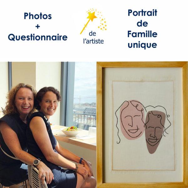 portrait des deux soeurs par Sylvère et Anne-Cécile