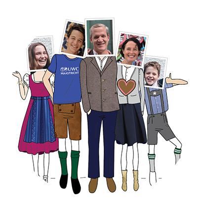 portrait de famille Jeanne d'apres photo en photo et illustration