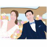 Portrait de mariés personnalisé et sur mesure