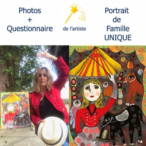 Portrait de famille personnalisé et peint par Claudine