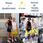 Portrait de Famille collage digital Lena pour Happy Funky Family