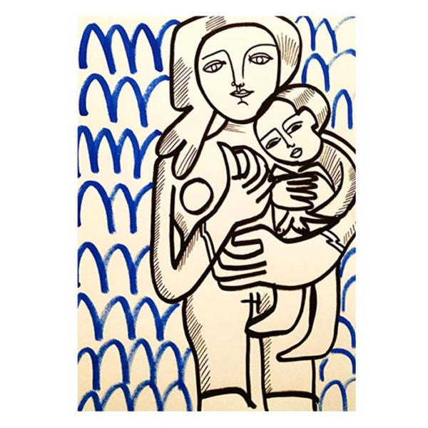 portrait de famille personnalisé et sur mesure en dessin