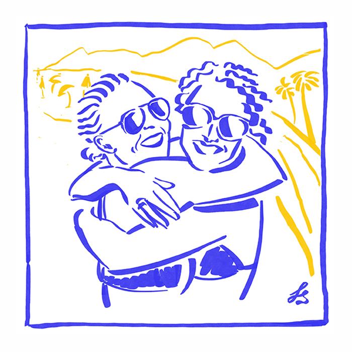 Happy Funky Family-portrait de famille digital personnalisé et sur commande