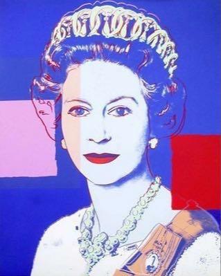 Portrait de la Reine d'Angleterre par Andy Warhol