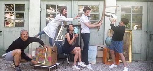 Photographie de famille réalisée à distance par Olivier