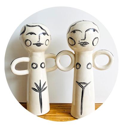 Portrait de famille en céramique