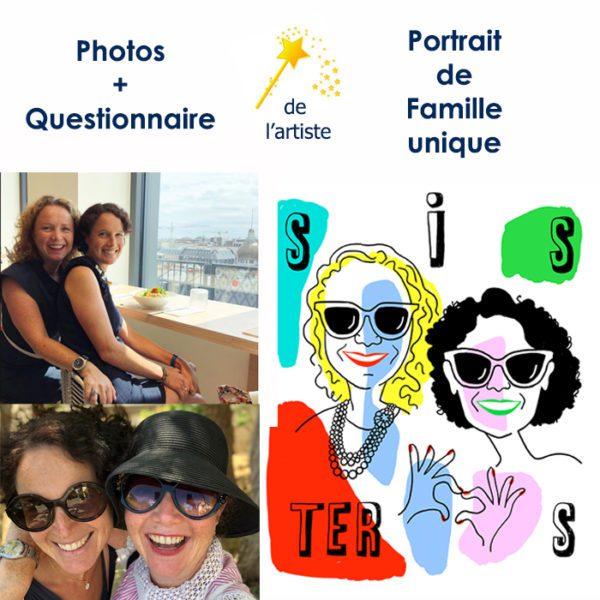 Portrait personnalisé d'après photo