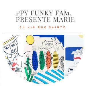 Pop up avec dessin de portrait en live par Marie à Marseille