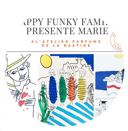 Portrait de famille en live dessiné par Marie