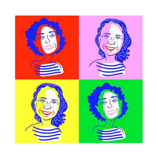 cadeau personnalisé et sur mesure avec ce portrait coloré