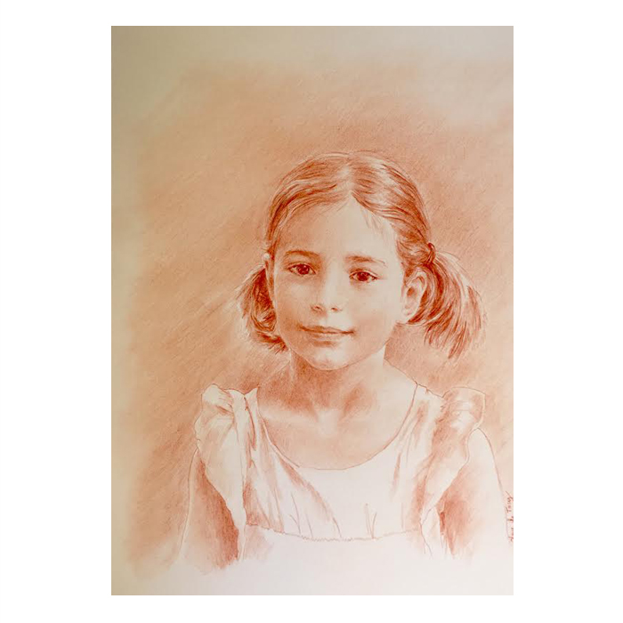 Portrait d'enfant personnalisé