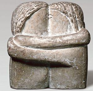 Sculpture de Brancusi qui celebre l'Amour