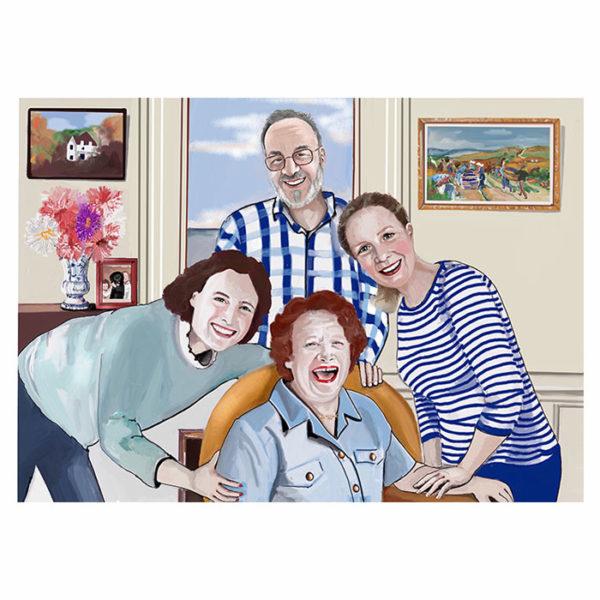 portrait dessiné digitalement d'après photo