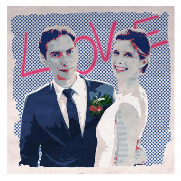 portrait de jeunes mariés