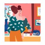 Portrait personnalisé sur mesure en illustration digitale pour Happy Funky family