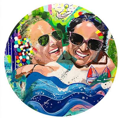 Portrait peint pour la Happy Funky Family
