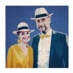 Portrait de famille personnalisé pour Happy Funky Family