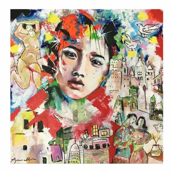 portrait personnalisé en peinture d'après une photo