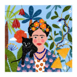 Portrait personnalisé d'après une photo de Frida Kahlo