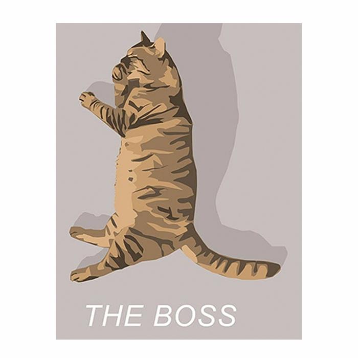 Illustration digitale d'un chat d'après photo