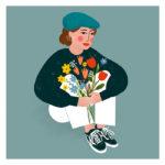 Portrait d'après photo en illustration digitale