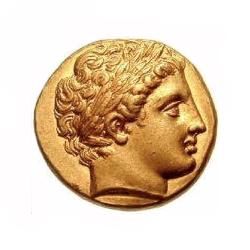Piece de monnaie avec Apollon