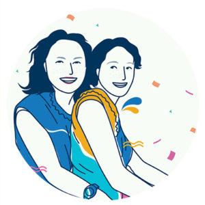 portrait des deux soeurs d'apres photo