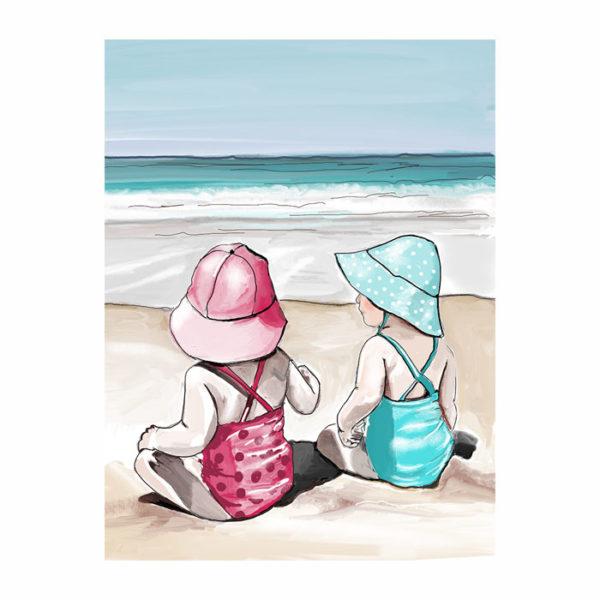 Portrait d'enfants sur la plage
