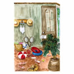 aquarelle d'interieur