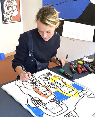 Portrait 100% fait main par un artiste