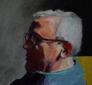 portrait peint d'un vieux monsieur