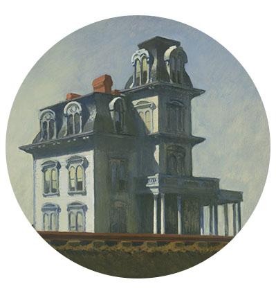 Maison peinte par Hopper
