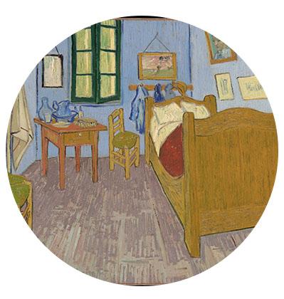 Peinture d'un intérieur par Van Gogh
