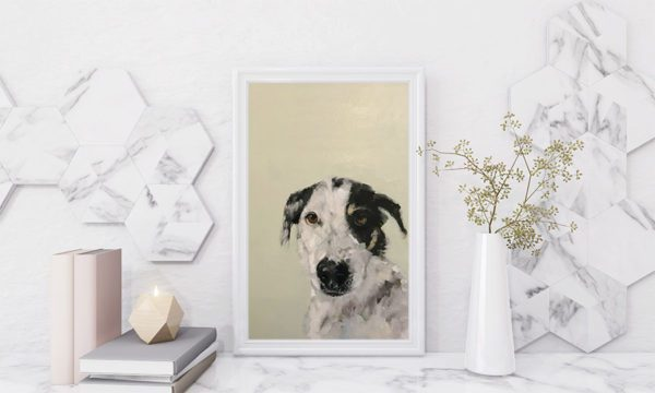 Decoration avec portrait de chien