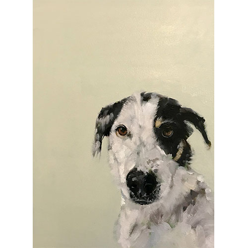 portrait de chien d'après photo